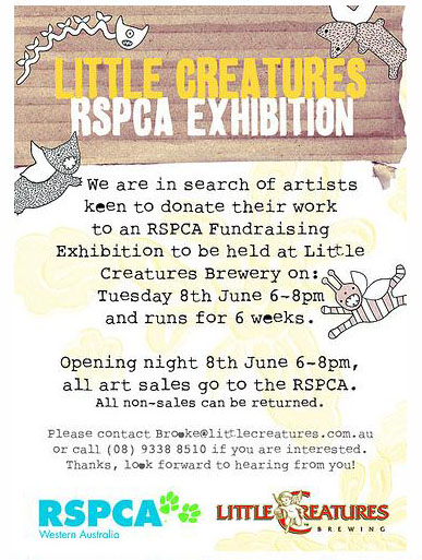 Little Creatures RSPCA Exhibition