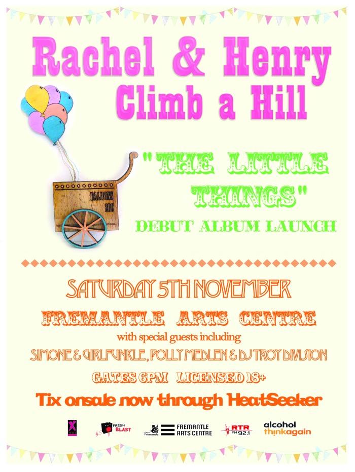Rachel & Henry Climb a Hill, album launch at Fremantle Arts Centre, 5th November 2011